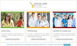 Site web groupe laser SFD